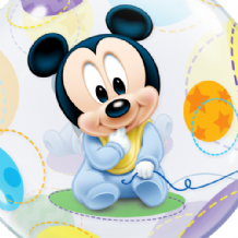 "Baby Mickey Mouse Bubble Balloon (22"") 1pc"